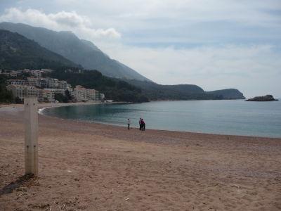 Pláže v okolí ostrova Sveti Stefan