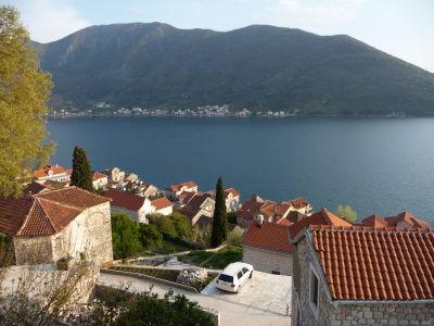 Výhľad na Kotorský záliv z Peraste