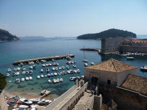 Dubrovnícky prístav z hradieb