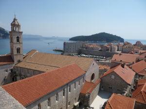 Pohľad na Dubrovník z hradieb mesta
