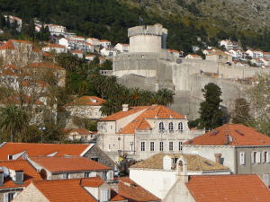 Pohľad na Dubrovník z pevnosti Lovrijenac