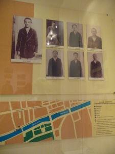 Múzeum atentátu - Srbskí anarchisti, vľavo Gavrilo Princip