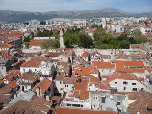 Split z veže - V pozadí Park Josipa Jurja Strossmayera
