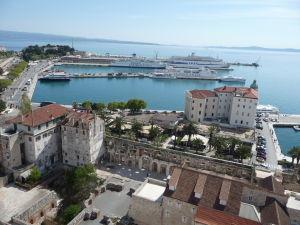 Pohľad na splitský prístav