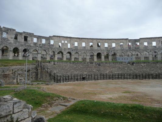 Rímska aréna (amfiteáter) v chorvátskej Pule