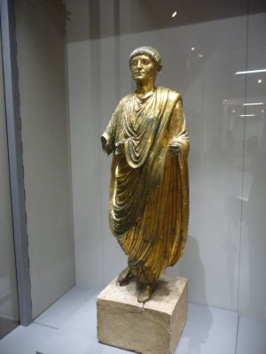 Bronzová rímska socha štátnika, svetový unikát