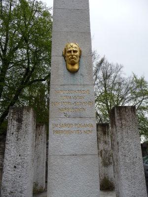 Pamätník Napoleonovi, ktorý nakrátko oslobodil krajinu spod nadvlády Habsburgskej ríše