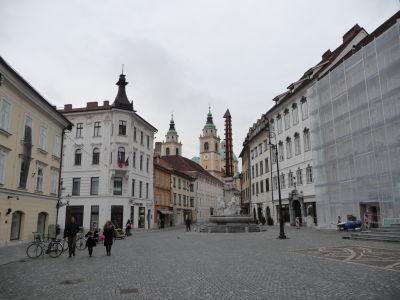 Centrum Ľubľany - Fontána Robba a katedrála