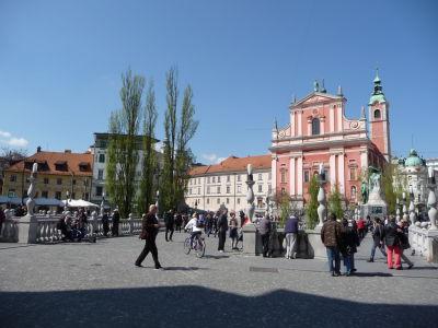 Trojmostie s františkánskym chrámom Zvestovania