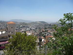 Výhľad od Baziliky dospievajúceho Ježiša na Nazaret