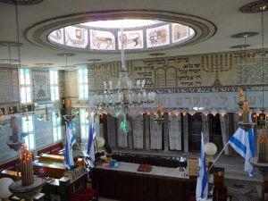 Synagóga z prvého poschodia
