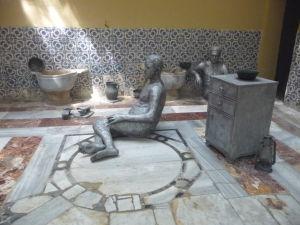 Relaxačná miestnosť kde sa vykonávali rôzne kúpeľné procedúry