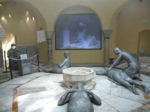 Relaxačná miestnosť kde sa vykonávali rôzne kúpeľné procedúry - Projekcie nechýbajú ani tu