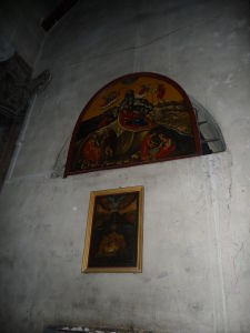 Chrám Narodenia - Nad vstupom do grotta
