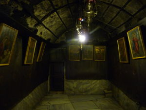 Podzemné grotto v Chráme Narodenia