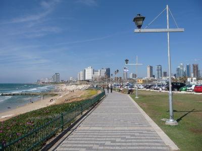Promenáda vedúca z Jaffy do moderného Tel Avivu