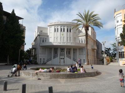 Bauhaus architektúra v uličke Bialik - Múzeum histórie Beit Ha'ir
