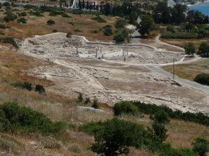 Pohľad na mesto Amathus z jeho akropoly