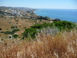 Výhľad z akropoly mesta Amathus