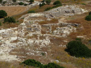 Pohľad z akropoly starovekého mesta Amathus