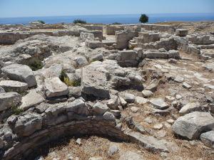 Ruiny akropoly starovekého mesta Amathus