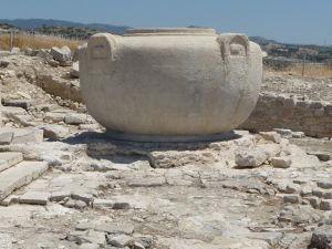 Nádrž na vodu na akropoli starovekého mesta Amathus