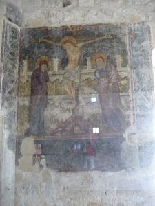 Pevnosť v Kolossi - Jediná zachovalá freska vo veži