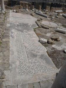 Mozaika zo zničenej byzantskej baziliky