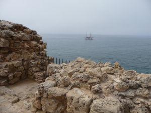 A takýto je výhľad na more zo strechy pevnosti