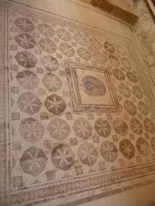 Dom Dionýza - Geometické motívy a páv