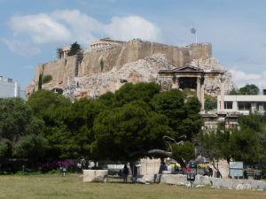 Partenón - Pohľad od Chrámu Olympského Dia
