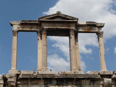 """Hadriánova brána - """"Grécka"""" časť, propylea"""