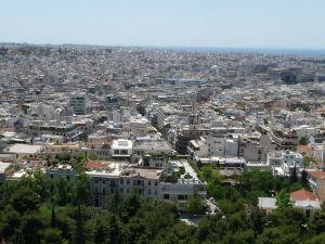 Výhľad na Atény z Akropoly