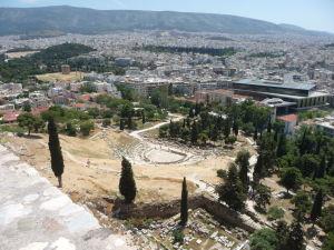 Dionýzovo divadlo pri pohľade z Akropoly