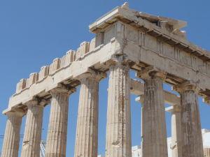 Partenón - Dórske hlavy stĺpov