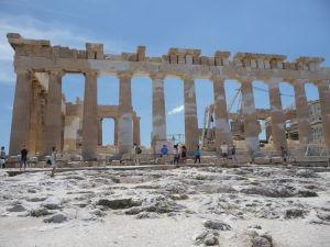 Dórske stĺpy Partenónu