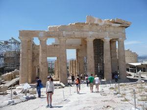 Propyleje - Zvnútra Akropoly