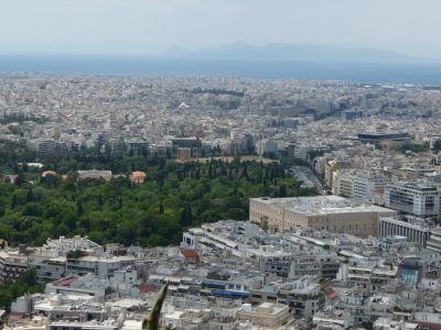 Výhľad z vrchu Lycabetus - Olympieion