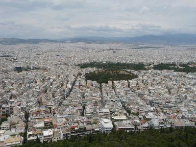 Výhľad z vrchu Lycabetus na Atény