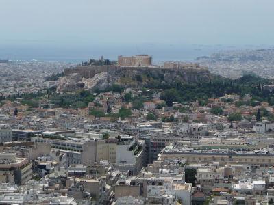 Výhľad z vrchu Lycabetus - Akropolis