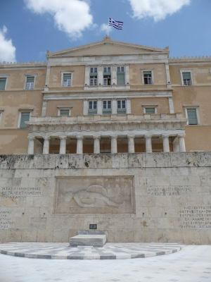 Starý kráľovský palác v Aténach, dnes grécky parlament
