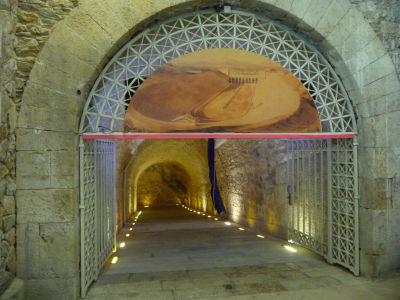 Mramorový štadión Panathinaikó - Vchod do útrob, kde sa nachádza múzeum