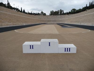 Mramorový štadión Panathinaikó - Kto by nechcel medailu z olympiády?