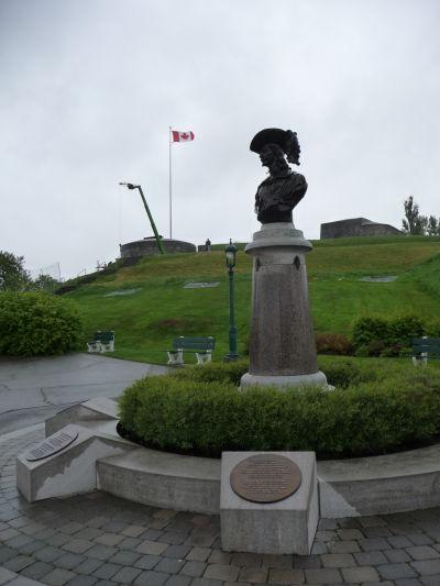 Citadela v Québecu - busta Samuela de Champlaina, zakladateľa mesta