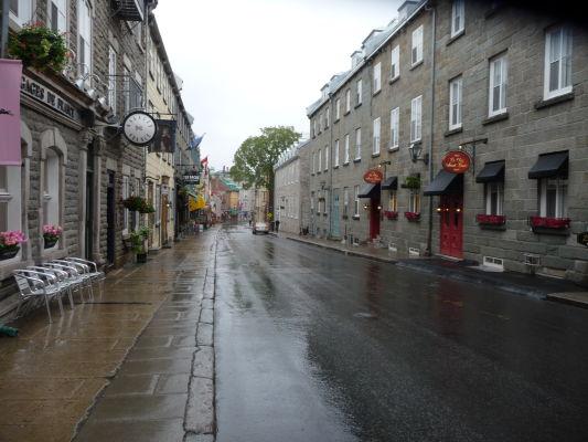 Ulice v centre hornej časti mesta (Haute-Ville) Québecu