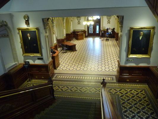 Vstupná hala v budove parlamentu v Québecu