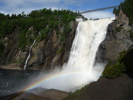 Vodopád Montmorency neďaleko Québecu