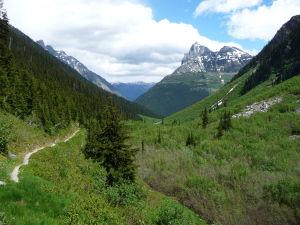 Krásny výhľad na údolie