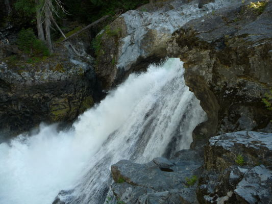 Vodopády v Provinčnom parku Nairn Falls v Britskej Kolumbii