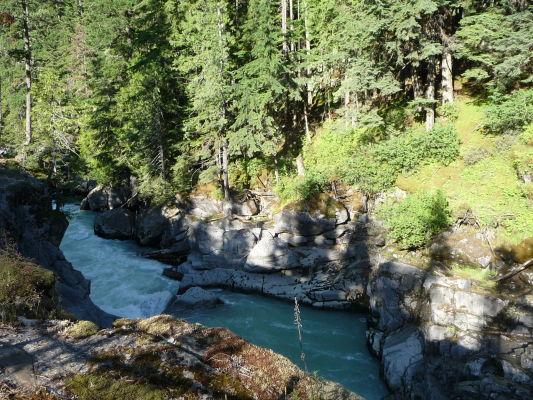 Provinčný park Nairn Falls v Britskej Kolumbii